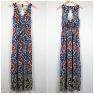 Anthro Maeve 100% Silk Sleeveless Maxi Dress Sz 4